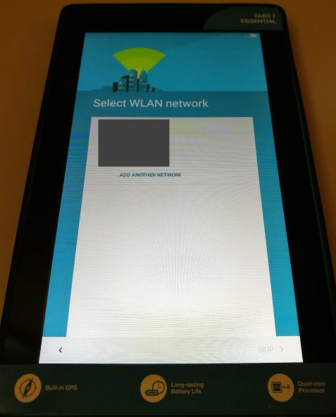 Android Factory Reset - Select WLAN network